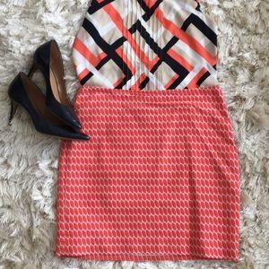 Ann Taylor peach skirt